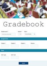 Online Gradebook Form
