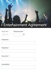Entertainment Agreement Form