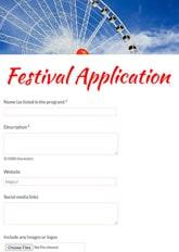 Festival Application Form