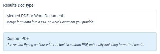 Formsite Custom PDF Results Doc