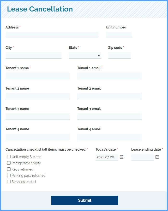 Lease Cancellation Agreement Forms
