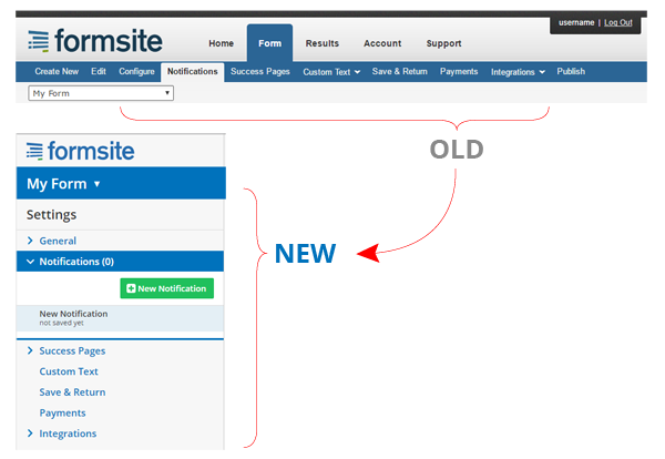 Formsite Makeover Form Settings